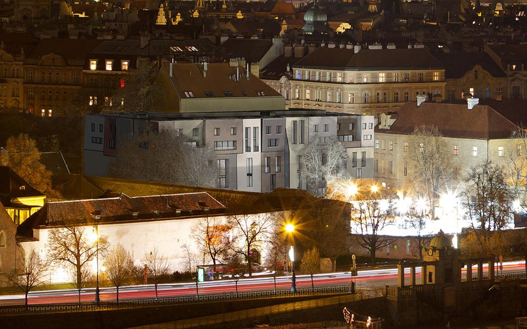 "Face House ""U Milosrdných"" in Prague"