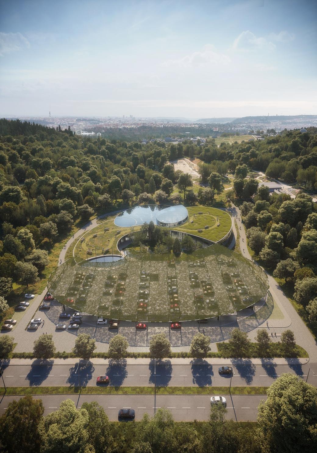 Vstupní objekt botanické zahrady hl. m. Prahy